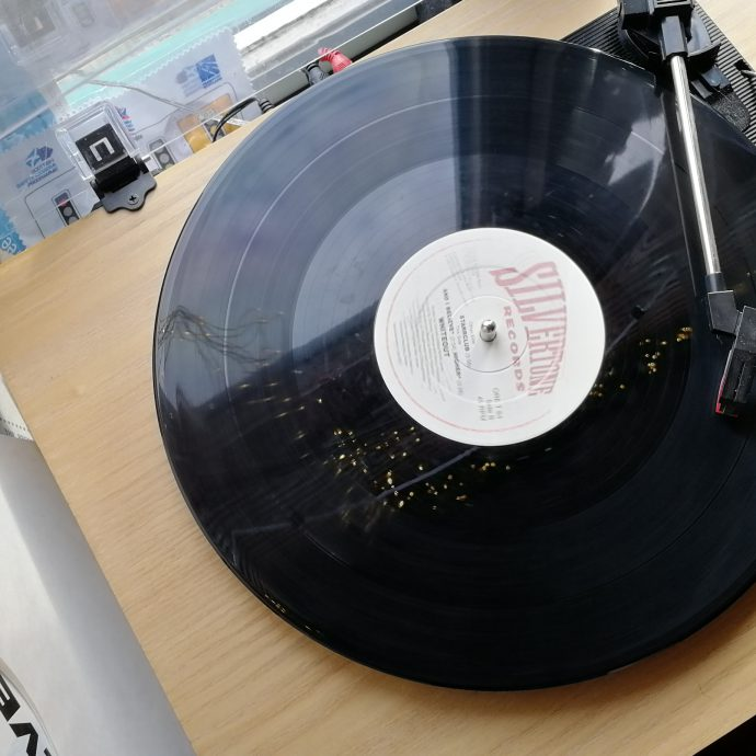 A record on a record player