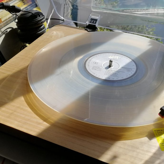 Translucent Record on Turntable